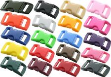 """Mini Plastic Curved Paracord Buckles 1/2""""- 25 Pack"""