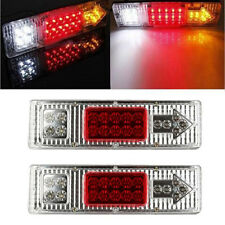 2X 19 LED Tail Light Car Truck Trailer Stop Rear Reverse Turn Indicator Lamp LOT