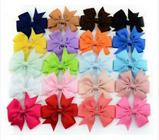 1PC Bow Baby Hot Hair Grosgrain Girls Clips Hairpin Boutique Ribbon Big Fashion