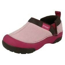 'Girls Crocs' Rounded Toe Flat Slip On Shoes - Cunning Cameron