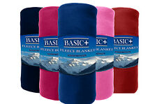 Fleece Throw Blankets 50x60 Complete Solid Colors (Dark Colors) 100% POLYESTER