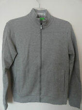 "NWT HUGO BOSS GREEN LABEL ""SKAZ"" MENS FULL ZIP JACKET COTTON BLEND GRAY $195+"