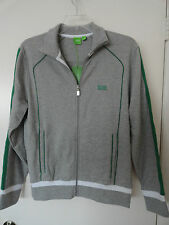 "NWT HUGO BOSS GREEN LABEL ""SKAZ 1"" MENS FULL ZIP JACKET COTTON GRAY $185+"