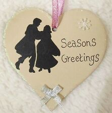 DISNEY PRINCESS SNOW WHITE HANDMADE PERSONALISED CHRISTMAS TREE HEART DECORATION