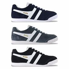 GOLA CLASSIC TRAINERS - GOLA HARRIER SUEDE TRAINERS - BLACK, NAVY, GREY