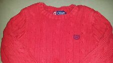 Boys Red Chaps Cable Knit Pullover Sweater, 3 3T Toddler, EUC Precious!