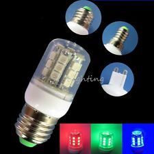 5-10PCS E27/E14/G9 Red/Green/Blue 27 5050 SMD LED Light Bulb Lamp AC 100-120V