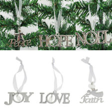 Xmas Tree Letters Hanging Ornament Decoration Christmas Home Party Theme Decor
