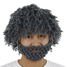 Caveman Beard Beanie Wig for Halloween Fun Party for Youth to Adult