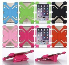 Shockproof Soft Silicone Scalable Stand Back Cover Case For RCA Series Tablet PC