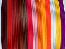 "3mm 1/8"" ELASTIC CORD red,pink fluorescent orange white purple brown 3 10 20 yds"