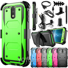 REFINED ARMOR COVER PHONE CASE & SWIVEL HOLSTER FOR Motorola Moto G4 / G4 Plus