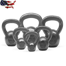 Kettlebell Solid Cast Iron Weight Workout Set 10+15+25+30+35+45+50 LBS New US