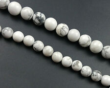 natural white howlite beads round loose gemstone beads 4mm 6mm 8mm 10mm 12mm