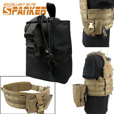 1000D Nylon Tactical Molle Folding Dump Drop Pouch Waist Belt Bag BagBlack /CB