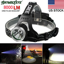 5000 Lm CREE XM-L XML T6 LED 18650 Headlamp Headlight flashlight head Light LOT