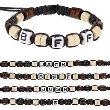Personalised Boys Friendship Bracelet Name Letter Message Alphabet Beads A-H