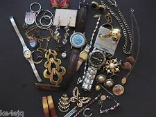 VINTAGE JEWELRY AND WATCH LOT SEIKO BENRUS PARTS REPAIR CRAFTS