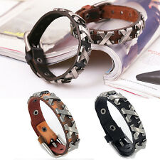 Trendy Style Genuine Leather Alloy Accesories Bracelet Bangle Jewelry for Male