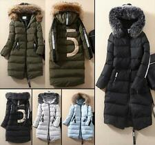 Women's Cold Weather No.5 100% Real Fur Collar Down Jacket Hoodie Coat parka