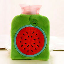 Cute Detachable Hot Water Bag Bottle Warm Relaxing Heat  With Plush Cover