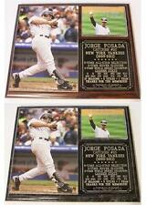 Jorge Posada #20 New York Yankees 5-Time World Champ Photo Plaque Core 4