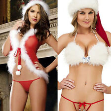 Women Christmas Xmas Sexy Lingerie Lace Sleepwear Underwear Fancy Dress Cosplay