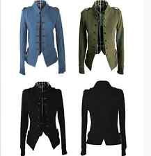 Fashion Women Stand Collar Double-breasted Short Coat Jacket Outwear FA