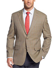 Tasso Elba Classic Fit Brown Houndstooth Two Button Blazer Sportcoat