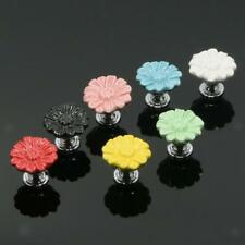 Modern Daisy Ceramic Drawer Cabinet Door Pull Handle Knob Home Decor 7 Colors