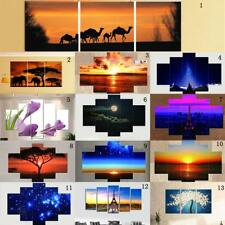 3/5 panels Canvas DIY Wall Art Oil Painting Pictures Print Unframed Deco-13 Type