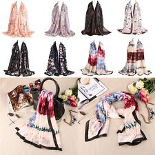 Fashion Scarf Shawl Painting Floral Pattern Digital Printed Women Casual Scarves