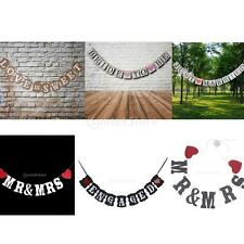 MR&MRS/JUST MARRIED/BRIDE TO BE Flag Pendant Wedding Party Bunting Banner Decor