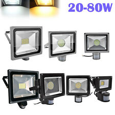 Motion Sensor LED Flood light  20W 30W 50W 80W Warm Cool White Floodlight 240V