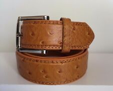 NEW MEN'S FAUX LEATHER OSTRICH SKIN PRINT CASAUL DRESS  GOLF JEAN BELT ALL SIZES