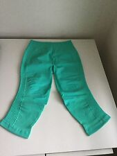 NWT LULULEMON FLOW AND GO CROPS IN BALI BREEZE~ SOLD OUT!!!  SZ 8&10 SUPER RARE!