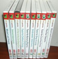 Lot of 10 Baby Genius Dvd With Cd New Mozart Animal Adventures & More