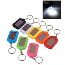 Torch Light  Keychain Portable 3 LED Flashlight Solar Powered with 5 Colors