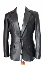 Brand New Men's Genuine soft Lambskin Leather TWO BUTTON Blazer Jacket Coat MB14