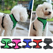 NEW Pet Dog Cat Puppy Cute Vest Adjustable Harness Braces Soft Mesh Clothes G&