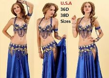 Belly Dance Costume 2pc Set USA  Fast Shipping  (FREE GIFT) PLUS SIZE