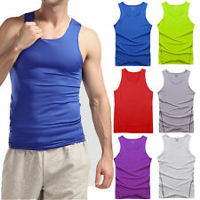 Men's Sports Vest Compression Thermal Base Layers Tops Sleeveless Tank T-Shirts