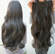 Clip Long Hair Curly Wavy in 5 Clips Synthetic One Piece Hair Extensions