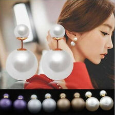 1 Pairs Earrings  Man Made Hot Ear Studs Double Pearl  Design  Fashion  New