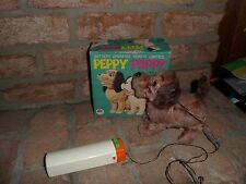 VINTAGE BATTERY OPERATED PEPPY PUPPY REAL VALUE TOYS IWAYA CORP