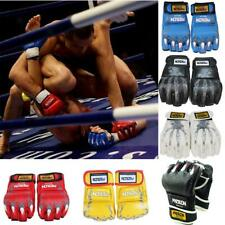 PU Leather MMA Grappling Gloves MMA UFC Fight Boxing Punch Bag Sparring Mitts