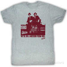 The Blues Brothers - Mission Statement Apparel T-Shirt - Grey Heather