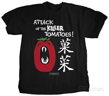 Attack of the Killer Tomatoes - Japanese Tomatoes Apparel T-Shirt - Black