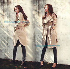 New Fashion Trench Coat for Women in Spring Autumn long Outerwear loose clothes