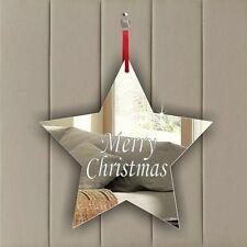 Personalised Christmas Star Tree Decoration Ornament Gift Stocking Filler